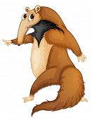 image of ant-eater  - Illustration of a funny anteater - JPG