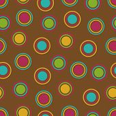 foto of dot pattern  - Bold Polka Dots background pattern in fall colors - JPG