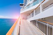 Sea view from cruise ship sailing poster
