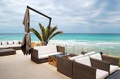 Sea View Terrace By A Beach At The Modern Luxury Hotel, Thassos Island, Greece