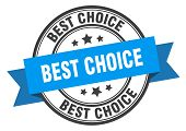 Best Choice Label. Best Choice Blue Band Sign poster