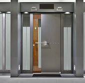 foto of front-entry  - Massive Metallic Fireproof Front Door - JPG