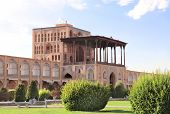 Ali Qapu Palace in Naqsh-e Jahan Square (Shah Square, Imam Square), second biggest place of the worl poster