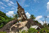 Buddha Park Xieng Khouane In Vientiane, Laos. Famous Travel Tourist Landmark Of Buddhist Stone Statu poster