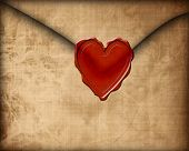 pic of soulmate  - Old paper love letter with seal on it - JPG