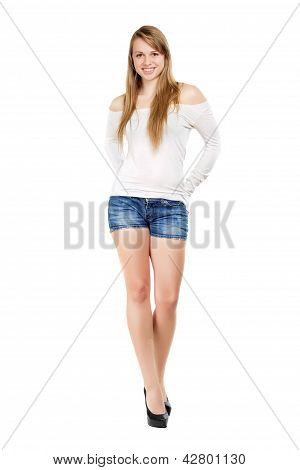 Young Smiling Blond Woman