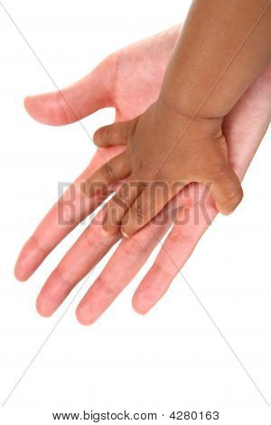 Baby And Mother Hands Together