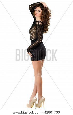 Pretty Leggy Brunette