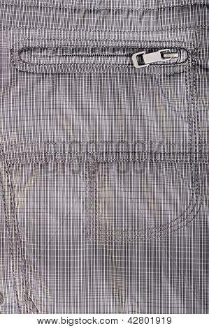 Closeup shot of the clothes zipper