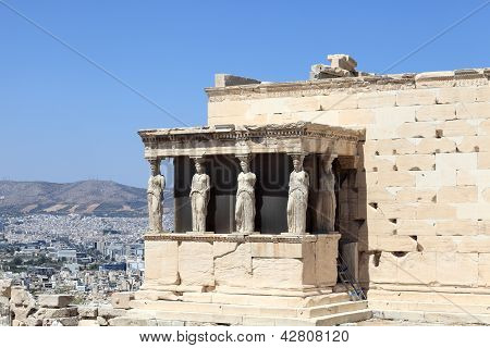 Fragment Of Erechtheum Greek Temple