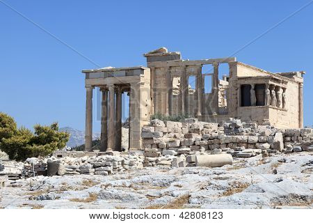 Facade Of Erechtheum Temple