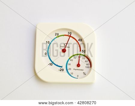 Thermometer And Psychoromoter Isolated On White Background