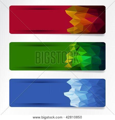 polygonal banner