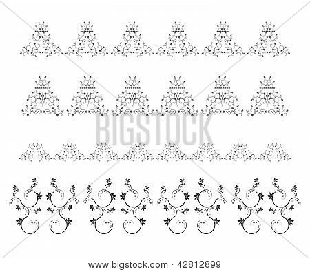 Set of vector page decoration elements or borders
