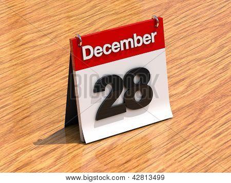 Calendar On Desk - December 28Th