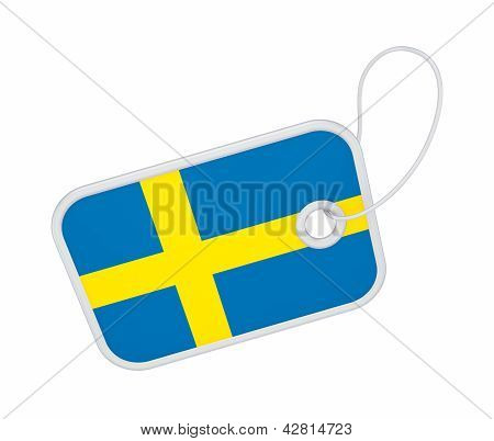 Tag with a flag of Sweeden.
