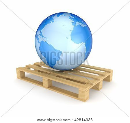 Earth on pallet.