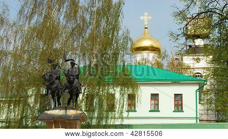 The monument to the Holy Russian princes Boris and Gleb