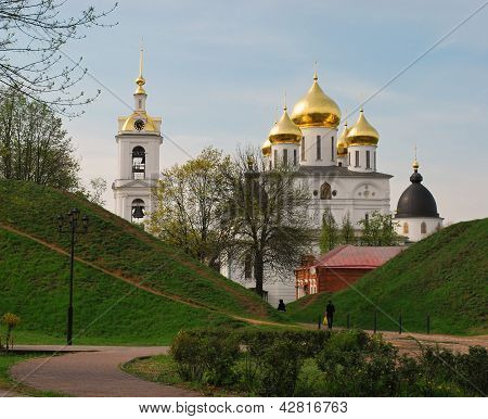 Kremlin in the old Russian town of Dmitrov