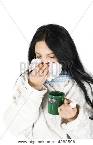 Woman Having Cold