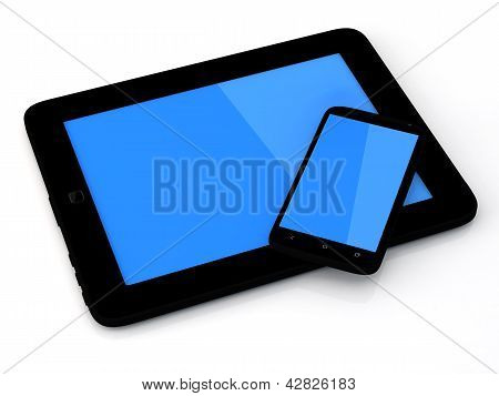 Tablet Pc And Smartphone