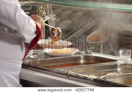 Chef Near Buffet