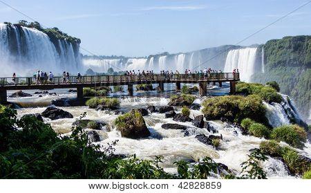 Walking Bridge at Iguassu Falls, Brazil