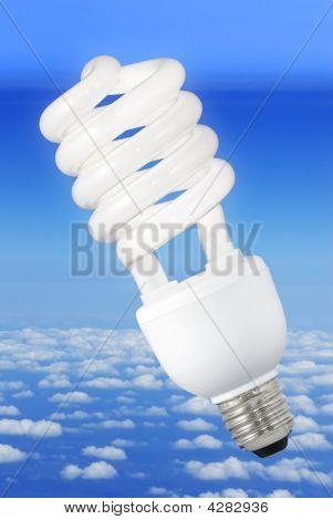 Modern Light Bulb And Climate Background