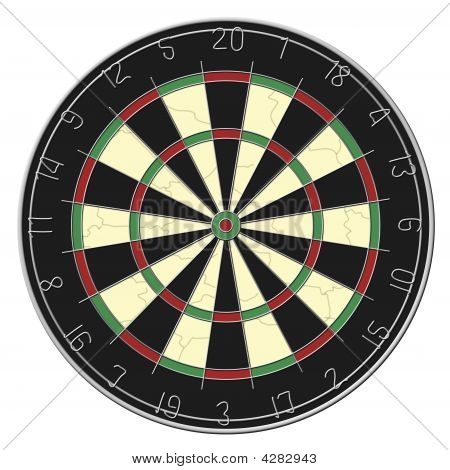 Dart Board - Isolated