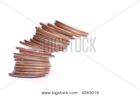 Falling Column Of Coins