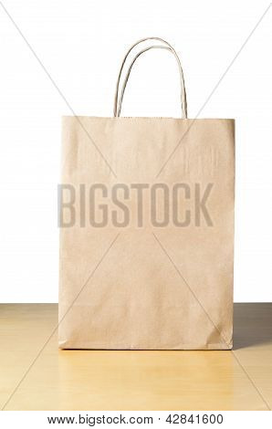 Paper Carrier Bag On Table