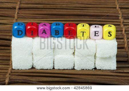 Sugar Lumps And Word Diabetes