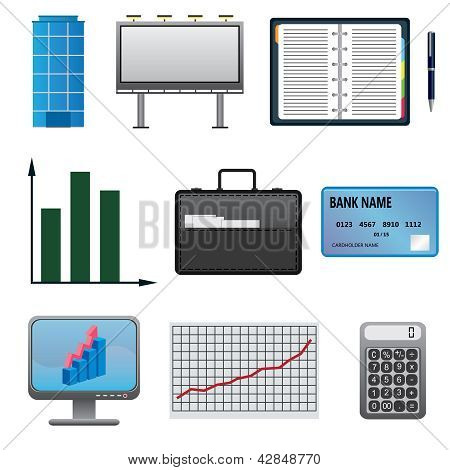 Set Of Business Icons.