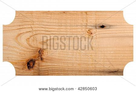 Wooden Sign Isolated On The White