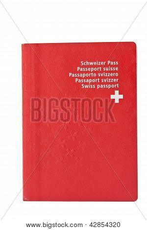 Used Swiss Passort, Isolated