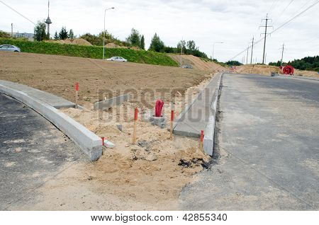 Road Construction Site Car Roundabout Wire