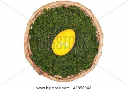 Easter Basket With One Egg