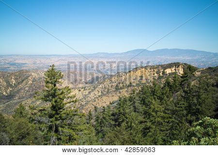 Wide Angle View Overlooking Trees And Valley