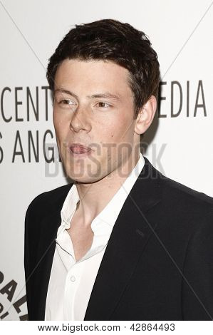 BEVERLY HILLS - MAR 16:  Cory Monteith arriving at the 2011 PaleyFest honoring 'Glee' held at the Saban Theater in Beverly Hills on March 16, 2010.