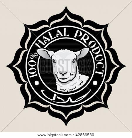 Halal Product Seal with Lamb