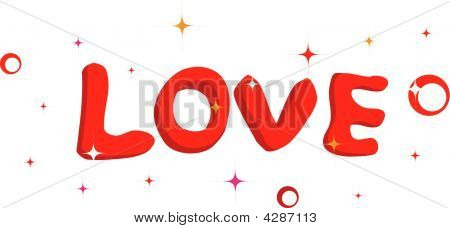 "Background With Word ""love"" For Saint Valentine's Day"
