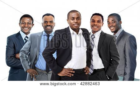 Young African American Business Man leading a team