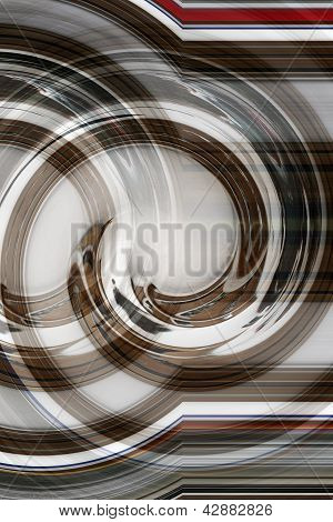 Business Brown Swirl with Bold Red for communications