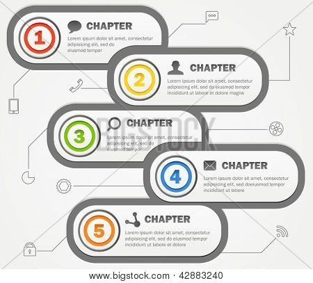 Infographics banners design with icons. Vector template for a content