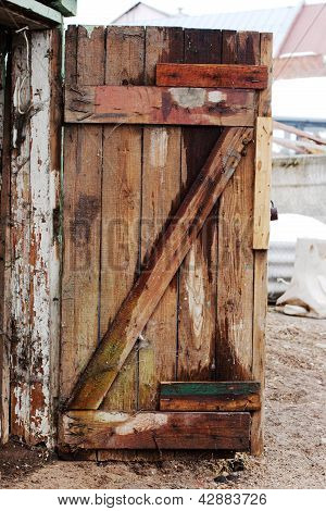 Old Decayed Wooden Door