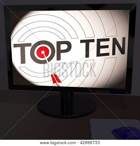 Top Ten On Monitor Shows Eligible Ranking