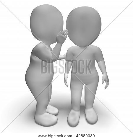 Whispering Gossip 3D Characters Have Secrets And Blab