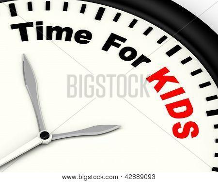 für Kiids Nachricht: Spielzeit oder Start-Familie