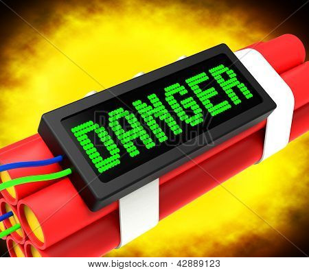 Danger Dynamite Sign Meaning Caution Or Dangerous