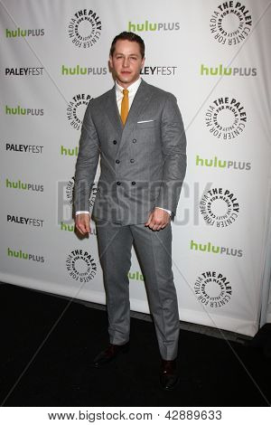 "LOS ANGELES - MAR 3:  Josh Dallas arrives at the  ""Once Upon A Time"" PaleyFEST Event at the Saban Theater on March 3, 2013 in Los Angeles, CA"